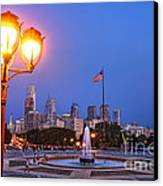 Philadelphia At Dusk Canvas Print by Olivier Le Queinec