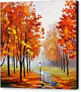 Pink Fog Canvas Print by Leonid Afremov