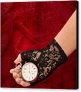 Pocket Watch Canvas Print by Amanda Elwell