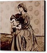 Portrait Of Jane Morris Canvas Print by John Parsons