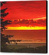 Red Pacific Canvas Print by Robert Bales