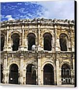 Roman Arena In Nimes France Canvas Print by Elena Elisseeva