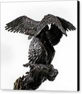 Seraph Angel A Religious Bronze Sculpture By Adam Long Canvas Print by Adam Long