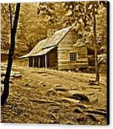 Smoky Mountain Cabin Canvas Print by Frozen in Time Fine Art Photography