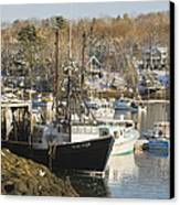 South Bristol And Fishing Boats On The Coast Of Maine Canvas Print by Keith Webber Jr