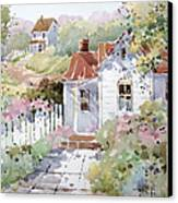 Summer Time Cottage Canvas Print by Joyce Hicks