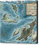 The Known World Of Skenth Canvas Print by Pieter Talens