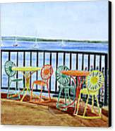 The Terrace View Canvas Print by Thomas Kuchenbecker
