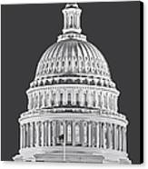 Us Capitol Dome Canvas Print by Susan Candelario