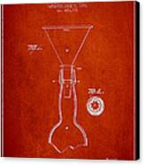 Vintage Bottle Neck Patent From 1891 Canvas Print by Aged Pixel
