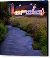 White Barn Canvas Print by Brian Jannsen