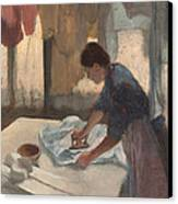 Woman Ironing Canvas Print by Edgar Degas
