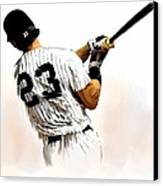 23   Don Mattingly  Canvas Print by Iconic Images Art Gallery David Pucciarelli