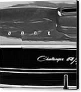 1970 Dodge Challenger Rt Convertible Grille Emblem Canvas Print by Jill Reger