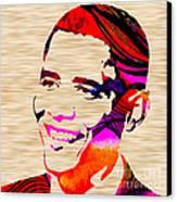 Barack Obama Canvas Print by Marvin Blaine