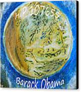 Barack Obama Star Canvas Print by Augusta Stylianou