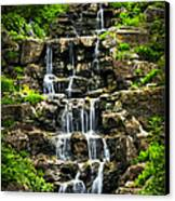 Cascading Waterfall Canvas Print by Elena Elisseeva