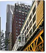 Chicago Loop 'l' Canvas Print by Christine Till
