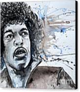 Jimi Hendrix  Canvas Print by Ismeta Gruenwald