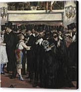 Masked Ball At The Opera Canvas Print by Edouard Manet