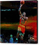 Michael Jordon Canvas Print by Marvin Blaine