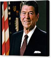 President Ronald Reagan Canvas Print by Official White House Photograph