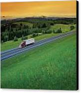 Semi-trailer Truck Canvas Print by Don Hammond