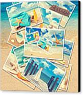 Summer Postcards Canvas Print by Amanda And Christopher Elwell