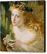 Take The Fair Face Of Woman Canvas Print by Sophie Anderson