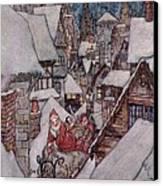 'the Night Before Christmas Canvas Print by Arthur Rackham
