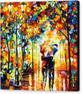 Under One Umbrella Canvas Print by Leonid Afremov