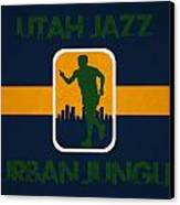 Utah Jazz Canvas Print by Joe Hamilton
