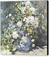 Vase Of Flowers Canvas Print by Pierre-Auguste Renoir