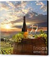 Vine Landscape In Chianti Italy Canvas Print by Tomas Marek