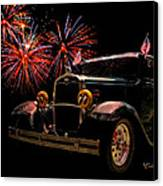 31 Five Window Coupe On The Fourth Of July Canvas Print by Chas Sinklier