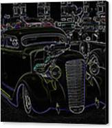 35 Ford Coupe Neon Glow Canvas Print by Steve McKinzie
