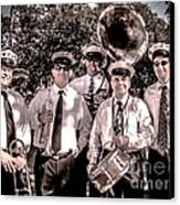 3rd Line Brass Band Canvas Print by Renee Barnes