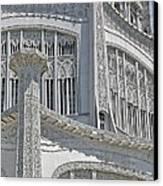 Bahai Temple Wilmette Canvas Print by Rudy Umans