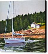 Bass Harbor Light Canvas Print by Karol Wyckoff
