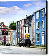 Colorful Houses In St. John's Canvas Print by Elena Elisseeva