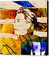 Hillary Clinton Canvas Print by Marvin Blaine