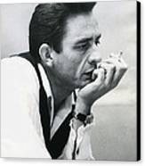 Johnny Cash Canvas Print by Retro Images Archive
