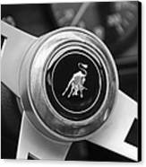Lamborghini Steering Wheel Emblem Canvas Print by Jill Reger