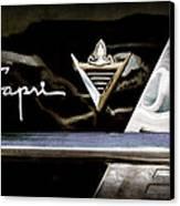 Lincoln Capri Emblem Canvas Print by Jill Reger