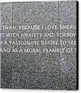 Martin Luther King Jr Memorial Canvas Print by Allen Beatty