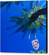 Porsche Emblem Canvas Print by Jill Reger