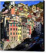 Riomaggiore Canvas Print by Barbara Walsh