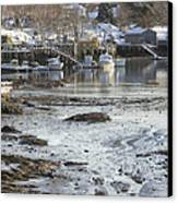 South Bristol On The Coast Of Maine Canvas Print by Keith Webber Jr