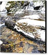 White Oak Run In Winter Canvas Print by Thomas R Fletcher