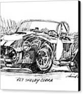 427 Shelby Cobra Canvas Print by David Lloyd Glover
